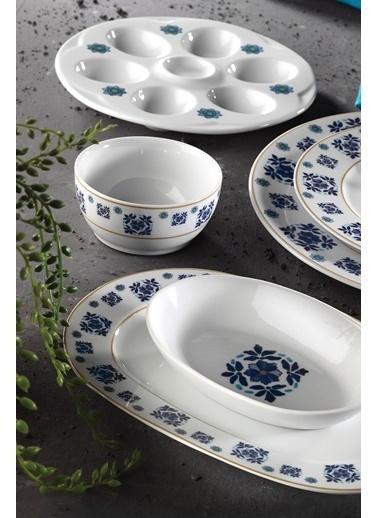 Kütahya Porselen Leonberg 22 Parça 10397 Desen Brunch Set Renkli